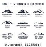 mountain tourist raster logos... | Shutterstock . vector #592550564