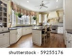 kitchen in luxury home with... | Shutterstock . vector #59255176
