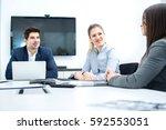 business people meeting in... | Shutterstock . vector #592553051