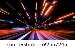 city colorful night lights... | Shutterstock . vector #592557245