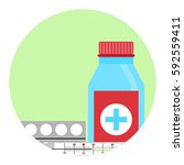 cold treatment vector icon.... | Shutterstock .eps vector #592559411