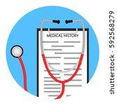 medical diagnostics icon....   Shutterstock .eps vector #592568279