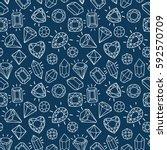 cute fashion seamless pattern... | Shutterstock .eps vector #592570709