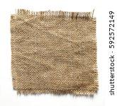burlap fabric torn edges sack... | Shutterstock . vector #592572149