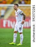 Small photo of Tristan Do of Muangthong United in action during the AFC Champions League between Brisbane Roar and Muangthong United at Suncorp Stadium on February 21, 2017 in Australia.