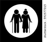 elder people icon | Shutterstock .eps vector #592577315
