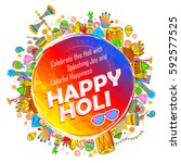 illustration of colorful happy... | Shutterstock .eps vector #592577525