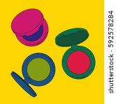 eye shadow singles. pop art... | Shutterstock .eps vector #592578284