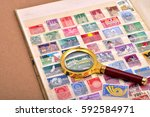 philately  stamps | Shutterstock . vector #592584971