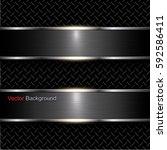 abstract metal background black ... | Shutterstock .eps vector #592586411