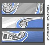 vector set horizontal banners... | Shutterstock .eps vector #592589051