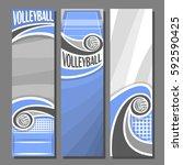 vector set vertical banners for ... | Shutterstock .eps vector #592590425