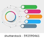 abstract 3d infographic... | Shutterstock . vector #592590461
