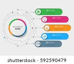abstract 3d infographic... | Shutterstock .eps vector #592590479