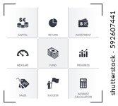 return on investment icon set | Shutterstock .eps vector #592607441