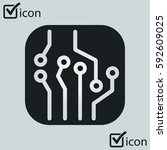 circuit board  icon. technology ...
