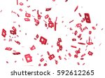 falling on top of frame the... | Shutterstock . vector #592612265