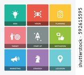 start up company icon set   Shutterstock .eps vector #592615595