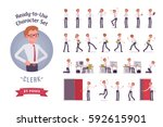 ready to use character set.... | Shutterstock .eps vector #592615901