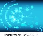 abstract technology background... | Shutterstock .eps vector #592618211