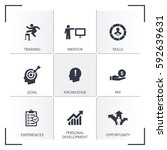 internship icon set | Shutterstock .eps vector #592639631