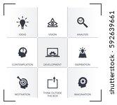 innovation icon set | Shutterstock .eps vector #592639661