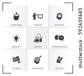 learning icon set | Shutterstock .eps vector #592639685