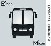 bus icon. schoolbus symbol.... | Shutterstock .eps vector #592640255