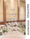 champagne glasses celebration... | Shutterstock . vector #592642985