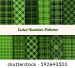 tartan patrick day seamless...   Shutterstock .eps vector #592643501