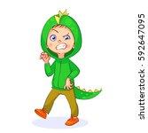 vector comical illustration of... | Shutterstock .eps vector #592647095