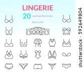 female underwear outline icon... | Shutterstock .eps vector #592649804