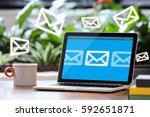 e mail marketing | Shutterstock . vector #592651871