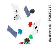 casino poker design template.... | Shutterstock .eps vector #592652114