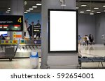 blank advertising billboard at...   Shutterstock . vector #592654001