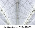 abstract architectural... | Shutterstock . vector #592657055