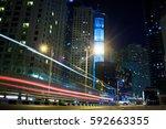 dubai street lights | Shutterstock . vector #592663355