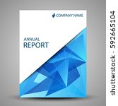 annual report cover in abstract ... | Shutterstock . vector #592665104