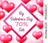 big valentines day sale 70... | Shutterstock . vector #592668221
