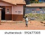central region  ghana   jan 17  ... | Shutterstock . vector #592677305