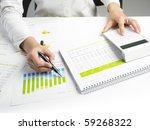 market analyze   pen and... | Shutterstock . vector #59268322
