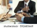 business people working in...   Shutterstock . vector #592685669