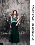 portrait of a beautiful woman... | Shutterstock . vector #592688429