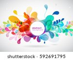 abstract colored background... | Shutterstock .eps vector #592691795