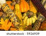 Corn Squash Pumpkin On The...
