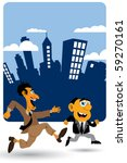 businessman running | Shutterstock .eps vector #59270161