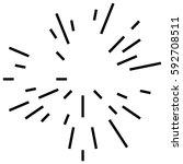 random radial lines explosion... | Shutterstock .eps vector #592708511