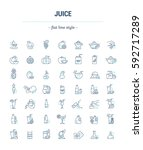 vector graphic set.icons in... | Shutterstock .eps vector #592717289