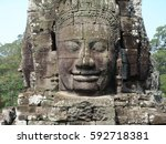 Faces Of The Bayon Temple In...