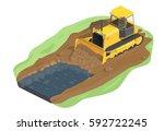vector illustration yellow...   Shutterstock .eps vector #592722245